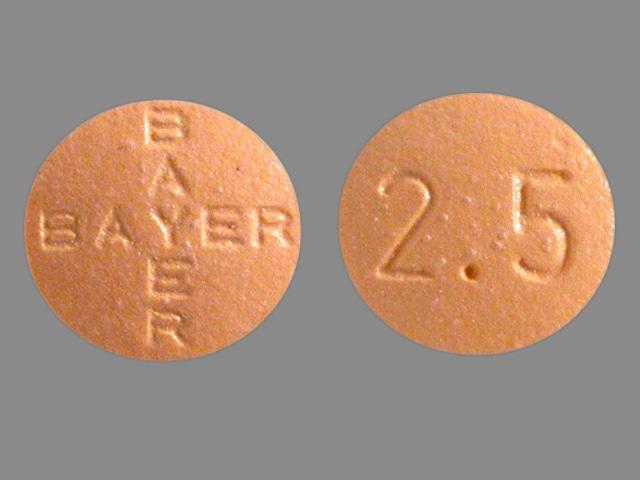 Imprint BAYER BAYER 2.5 - Levitra 2.5 mg