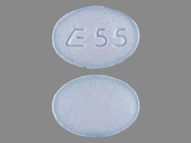 Imprint E 55 - metolazone 5 mg