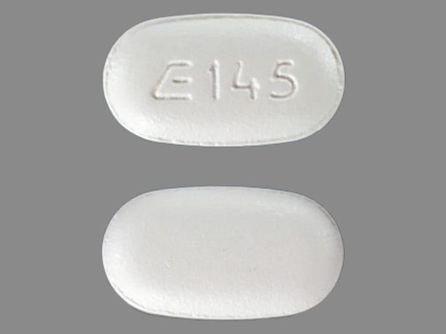 Imprint E 145 - nabumetone 500 mg