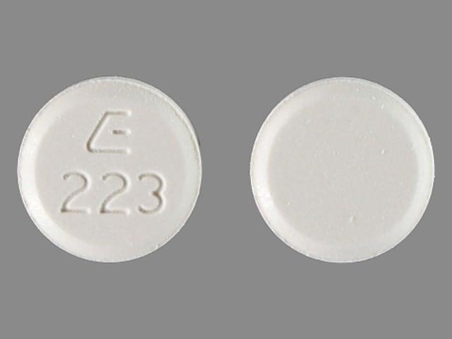 Imprint E 223 - cilostazol 100 mg