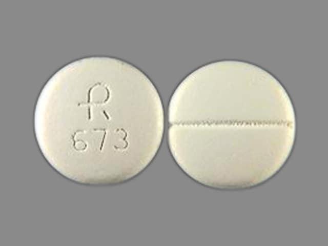Imprint R 673 - spironolactone 100 mg