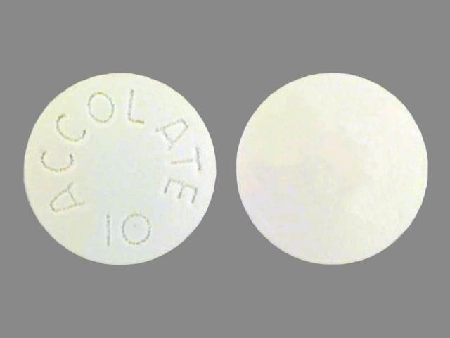 Imprint ACCOLATE 10 - Accolate 10 mg