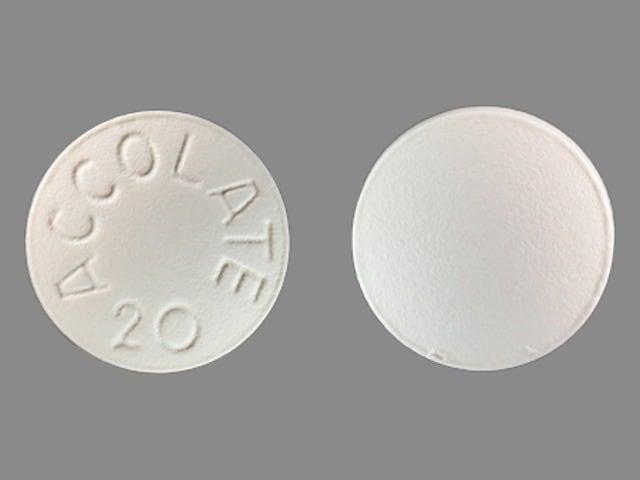 Imprint ACCOLATE 20 - Accolate 20 mg