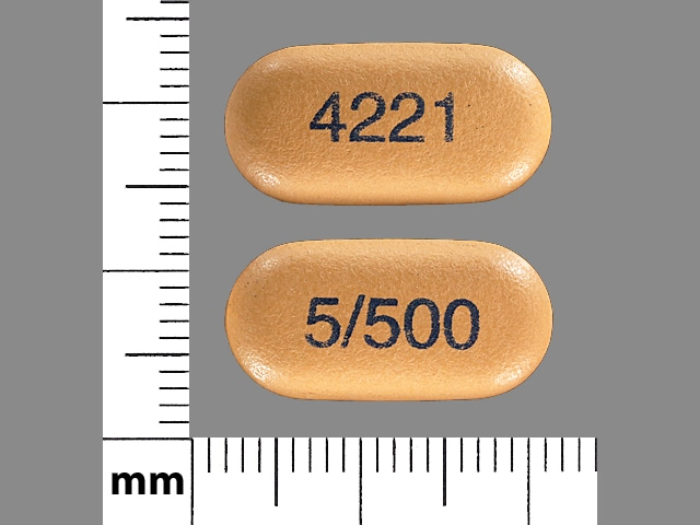 Imprint 4221 5/500 - Kombiglyze XR metformin hydrochloride extended-release 500 mg / saxagliptin 5 mg