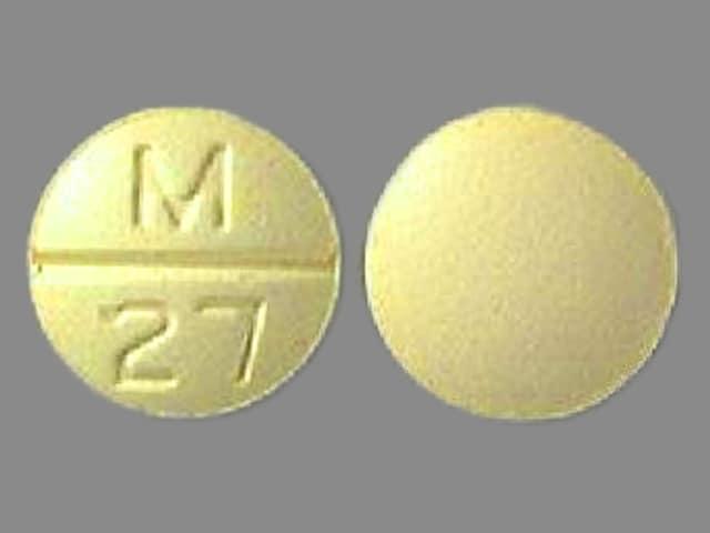Imprint M 27 - chlorthalidone/clonidine 15 mg / 0.2 mg