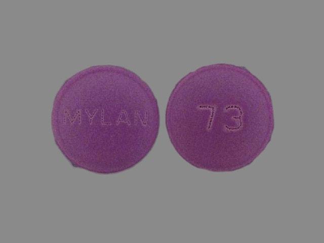 Imprint MYLAN 73 - amitriptyline/perphenazine 50 mg / 4 mg