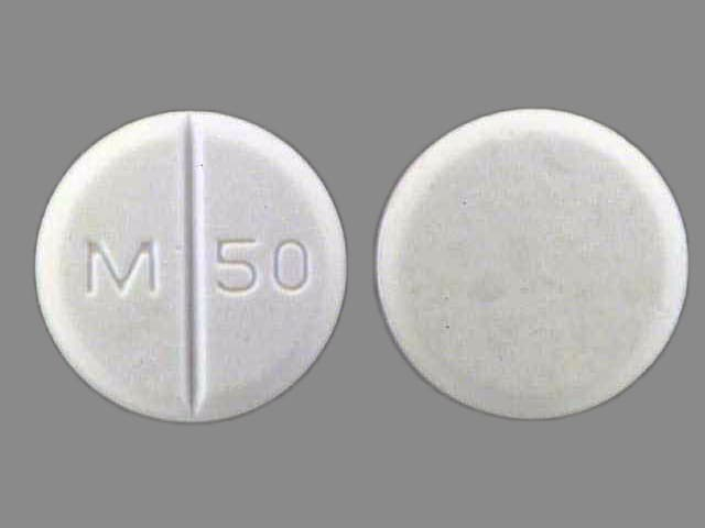 Imprint M 50 - chlorothiazide 250 mg