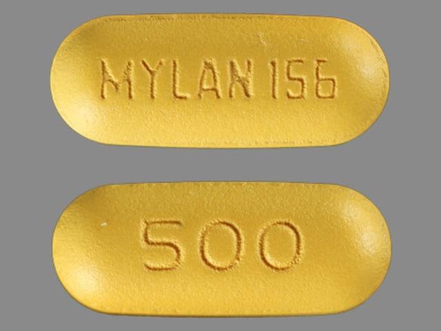 Image 2 - Imprint MYLAN 156 500 - probenecid 500 mg