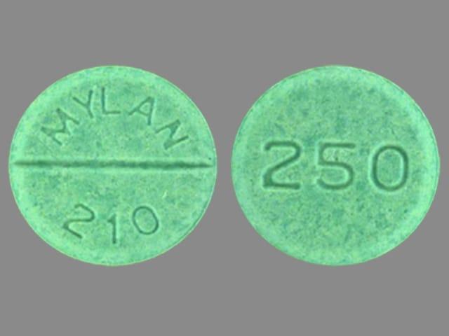 Image 1 - Imprint MYLAN 210 250 - chlorpropamide 250 mg