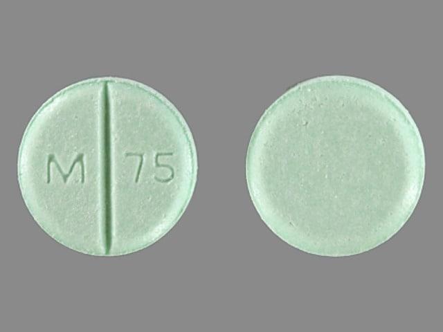 Imprint M 75 - chlorthalidone 50 mg