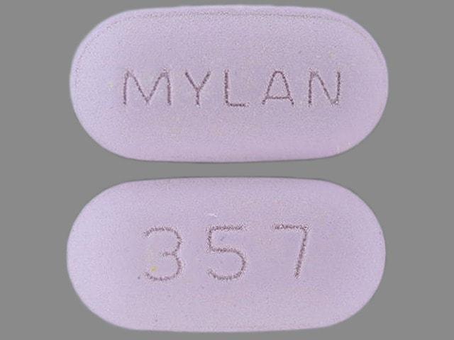 Imprint MYLAN 357 - pentoxifylline 400 mg