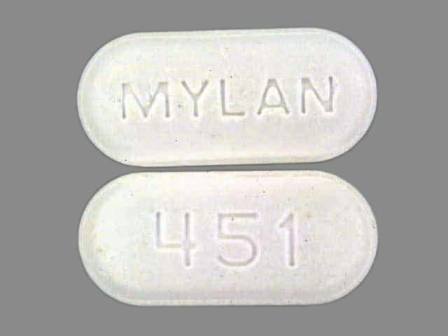 Image 1 - Imprint MYLAN 451 - naproxen 500 mg
