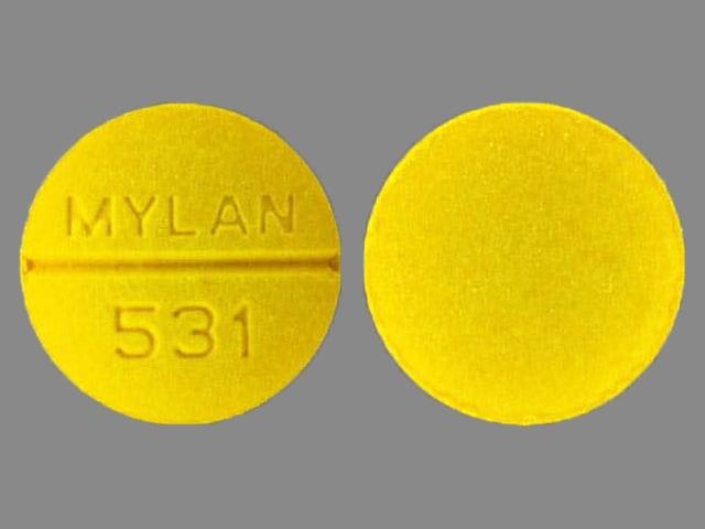 Imprint MYLAN 531 - sulindac 200 mg