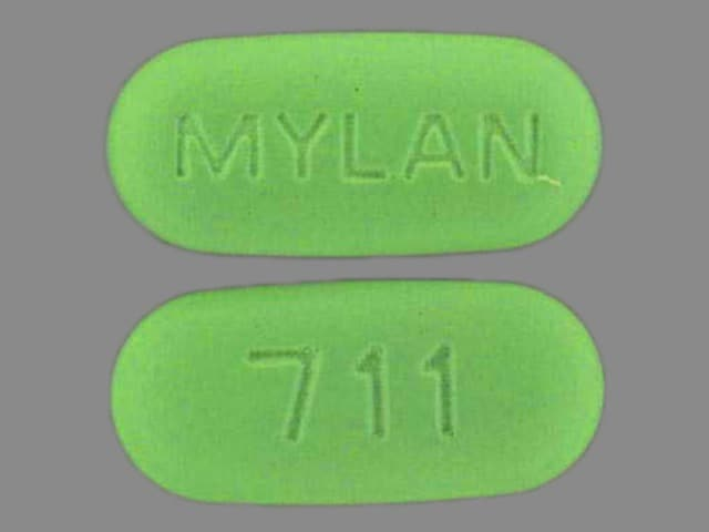 Imprint MYLAN 711 - hydrochlorothiazide/methyldopa 25 mg / 250 mg