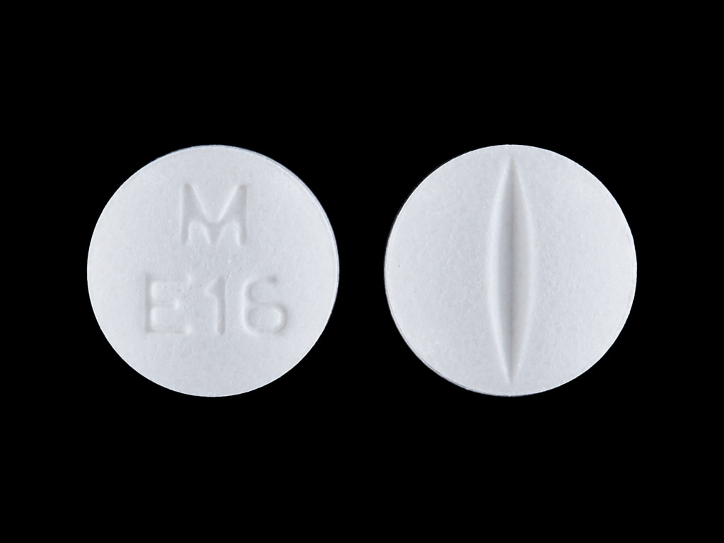 Imprint M E16 - enalapril 5 mg
