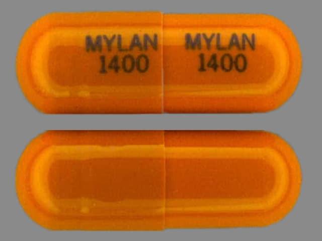 Imprint MYLAN 1400 MYLAN 1400 - acebutolol 400 mg