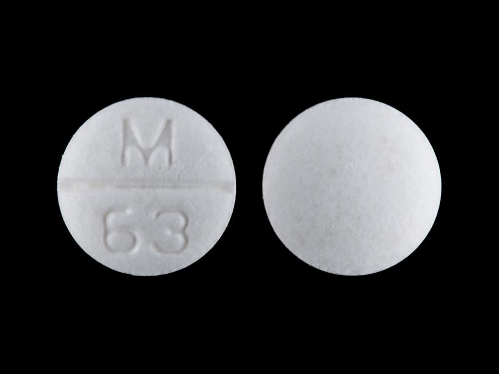 Imprint M 63 - atenolol/chlorthalidone 50 mg / 25 mg
