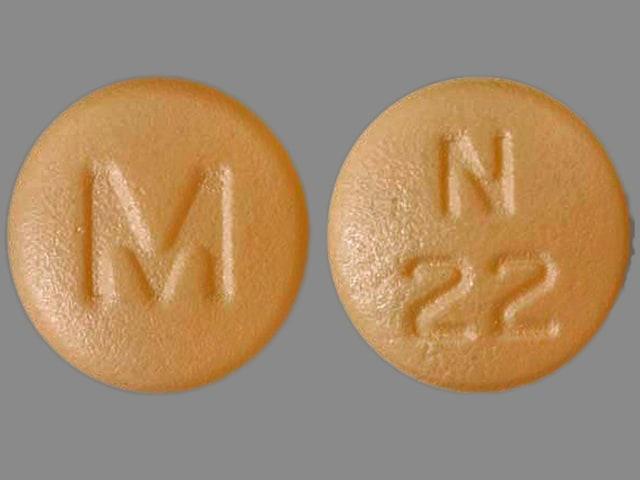 Imprint M N 22 - nisoldipine 20 mg