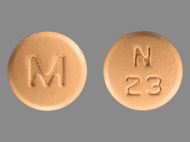 Imprint M N 23 - nisoldipine 30 mg