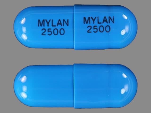 Imprint MYLAN 2500 MYLAN 2500 - tamsulosin 0.4 mg