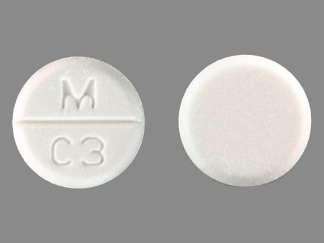 Imprint M C3 - captopril 50 mg