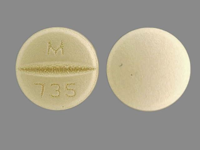 Imprint M 735 - benazepril/hydrochlorothiazide 10 mg / 12.5 mg