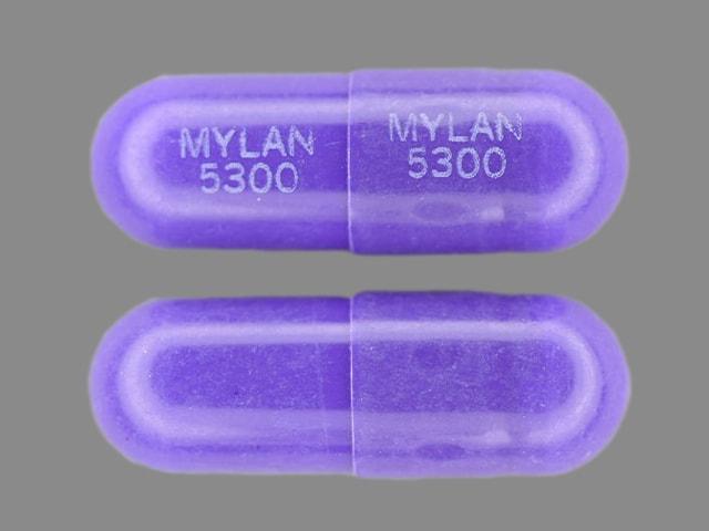 Imprint MYLAN 5300 MYLAN 5300 - nizatidine 300 mg