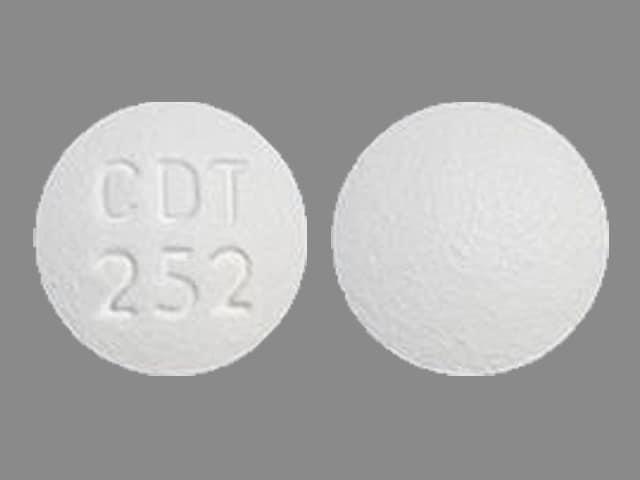 Imprint CDT 252 - amlodipine/atorvastatin 2.5 mg / 20 mg