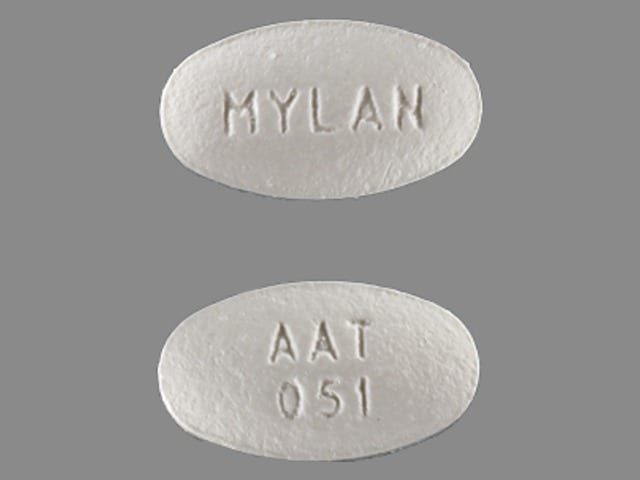 Imprint AAT 051 MYLAN - amlodipine/atorvastatin 5 mg / 10 mg