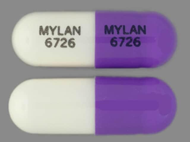 Imprint MYLAN 6726 MYLAN 6726 - zonisamide 50 mg