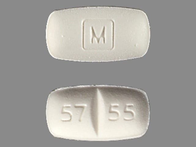 Imprint M 57 55 - methadone 5 mg