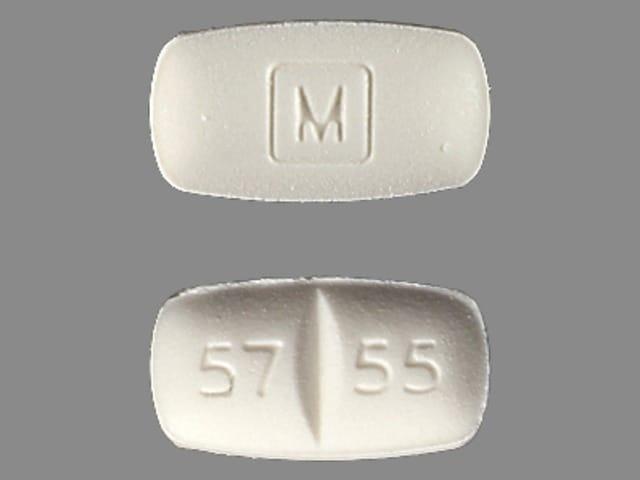 Imprint M 57 55 - methadone 5 mg