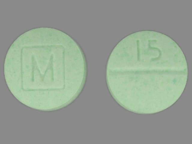 Imprint 15 M - oxycodone 15 mg