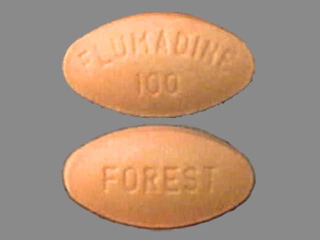 Imprint FOREST FLUMADINE100 - Flumadine 100 mg