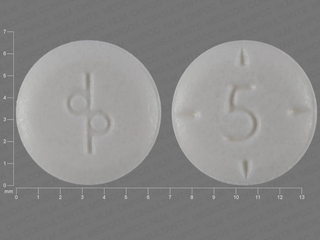 Imprint dp 5 - Adderall 5 mg