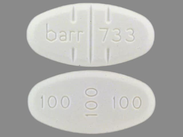 Image 1 - Imprint barr 733 100 100 100 - trazodone 300 mg