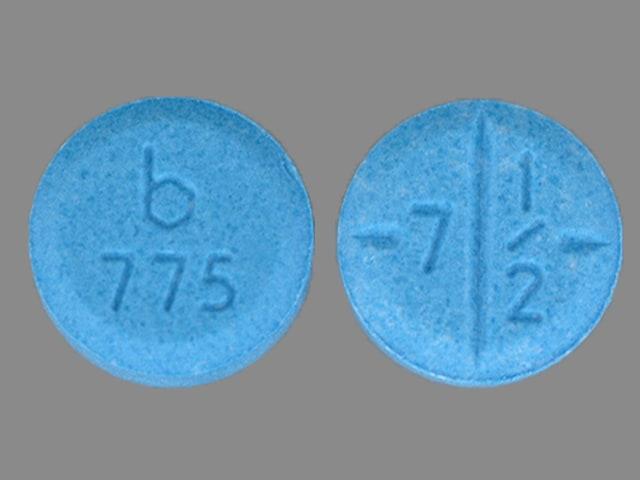 Imprint b 775 7 1/2 - amphetamine/dextroamphetamine 7.5 mg