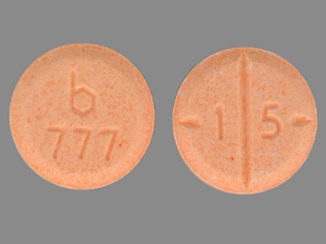 Imprint b 777 1 5 - amphetamine/dextroamphetamine 15 mg
