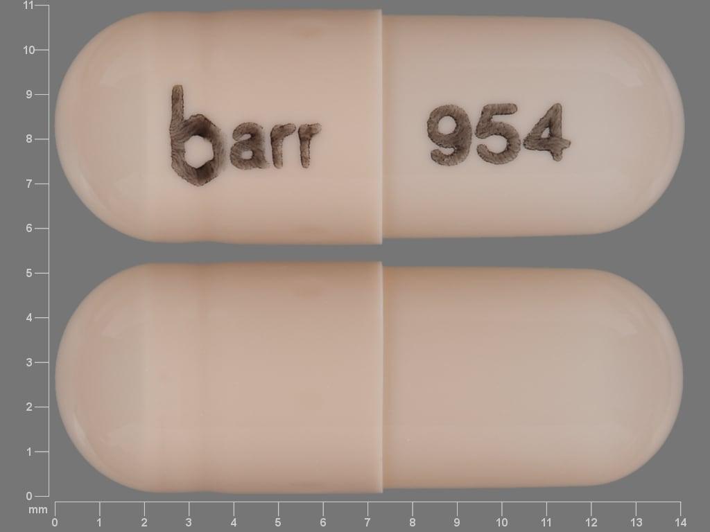 Image 1 - Imprint barr 954 - dextroamphetamine 5 mg