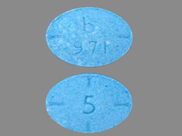 Imprint b 971 5 - amphetamine/dextroamphetamine 5 mg