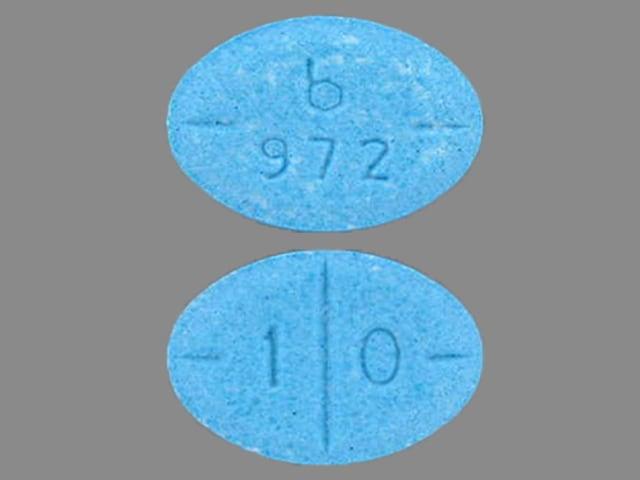 Imprint b 972 1 0 - amphetamine/dextroamphetamine 10 mg