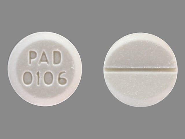 Imprint PAD 0106 - bromocriptine 2.5 mg