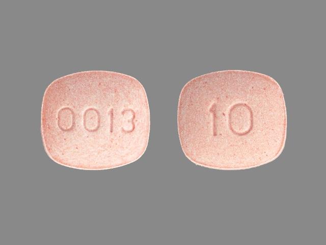 Imprint 0013 10 - pravastatin 10 mg