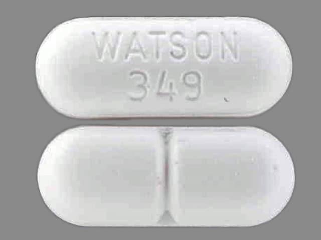 Imprint WATSON 349 - acetaminophen/hydrocodone 500 mg / 5 mg