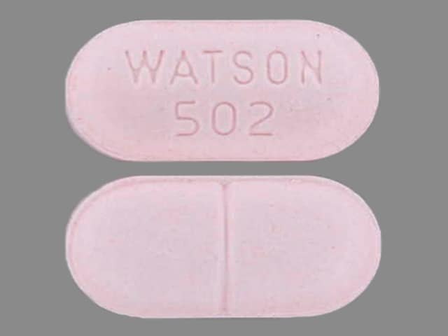 Imprint WATSON 502 - acetaminophen/hydrocodone 650 mg / 7.5 mg