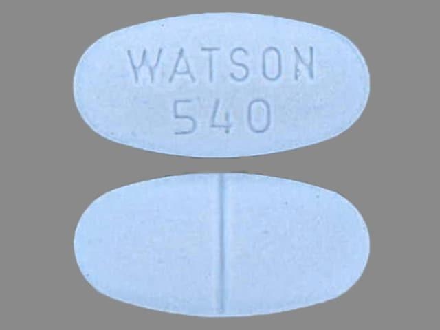Imprint WATSON 540 - acetaminophen/hydrocodone 500 mg / 10 mg