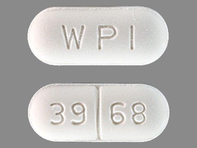 Imprint WPI 39 68 - chlorzoxazone 500 mg