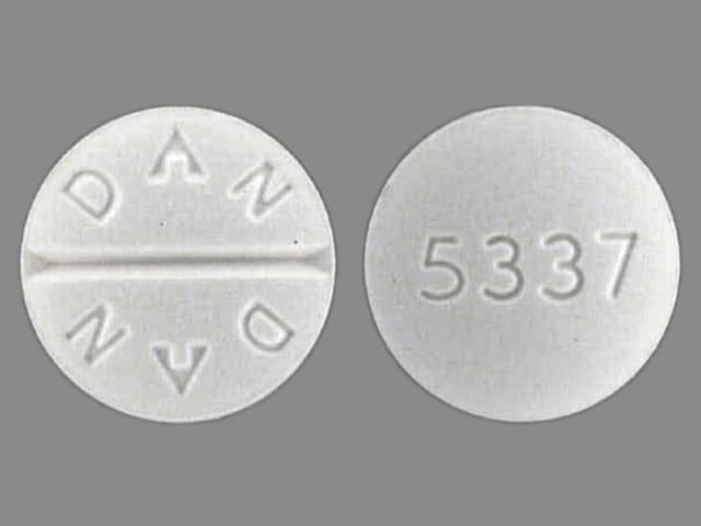 Image 1 - Imprint DAN DAN 5337 - trihexyphenidyl 5 mg