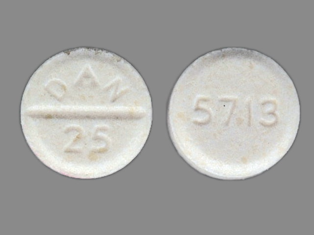 Imprint 5713 DAN 25 - amoxapine 25 mg