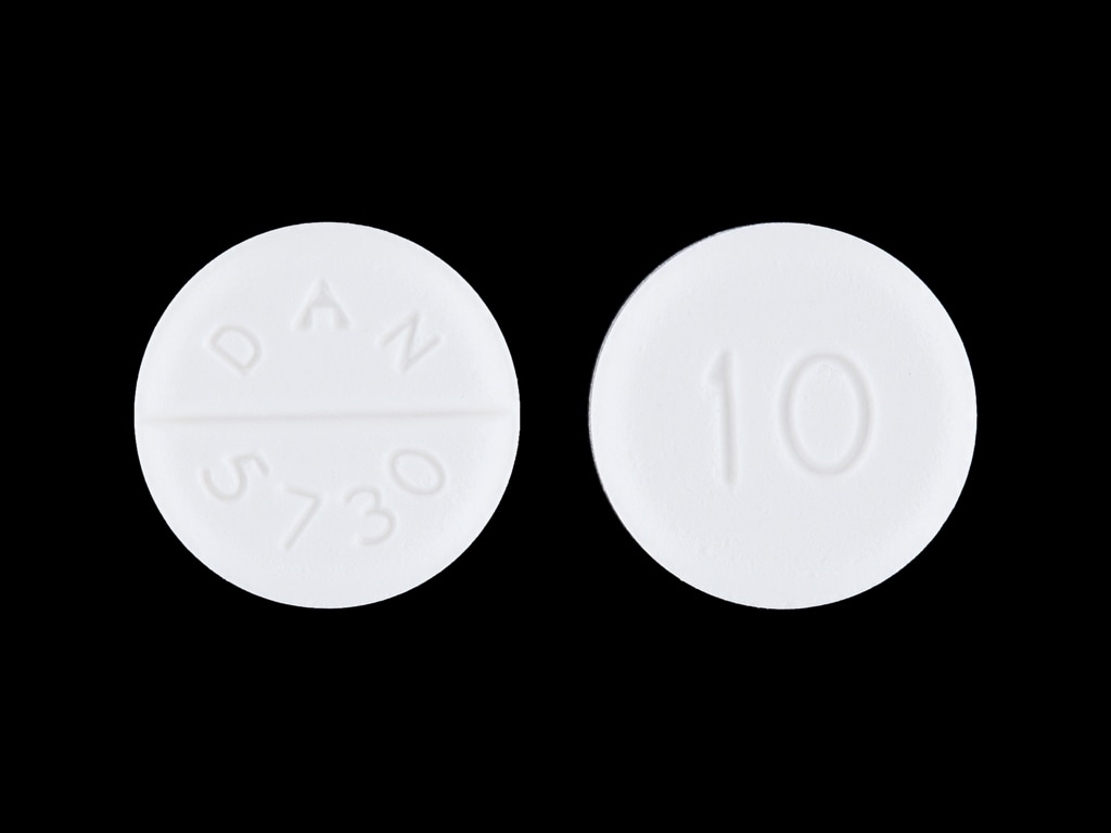 Imprint 10 DAN 5730 - baclofen 10 mg